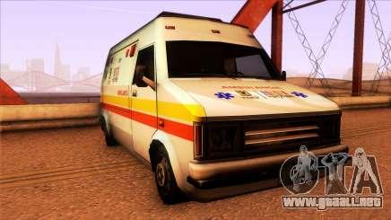 Ambulancia Rumpo Colombiana para GTA San Andreas