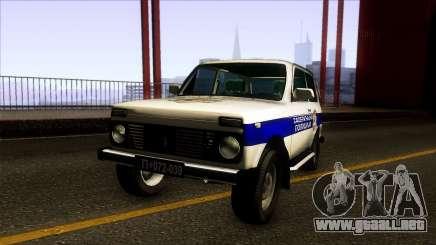 Lada Niva Serbian Traffic Police para GTA San Andreas