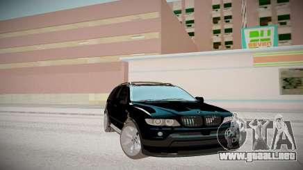 BMW X5 negro para GTA San Andreas