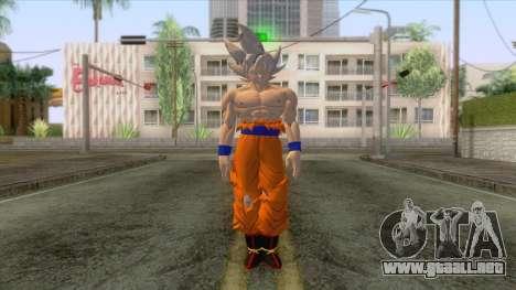 Skin Goku Instinto Superior Dominado para GTA San Andreas segunda pantalla