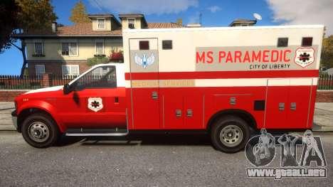 Vapid Sadler Ambulance para GTA 4