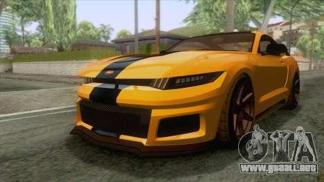 GTA 5 - Vapid Dominator GT350R IVF para GTA San Andreas vista posterior izquierda