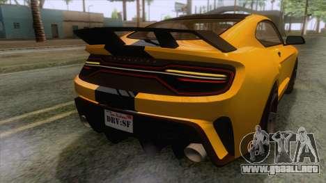 GTA 5 - Vapid Dominator GT350R IVF para GTA San Andreas interior