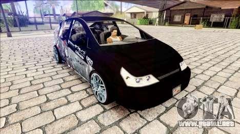 GTA V Karin Dilettante (Livery) para GTA San Andreas