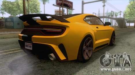GTA 5 - Vapid Dominator GT350R IVF para GTA San Andreas left