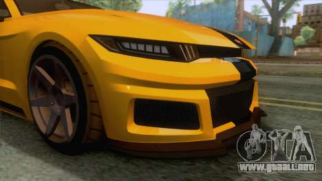 GTA 5 - Vapid Dominator GT350R IVF para vista lateral GTA San Andreas