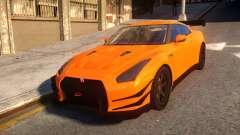 Fast And Furious Nissan GTR para GTA 4