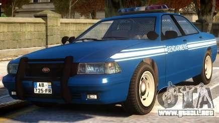 Vapid Stanier Gendarmerie National para GTA 4