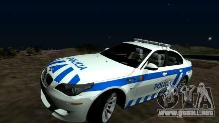 El BMW M5 E60 PSP - portugués / portugués-Coche de Policía para GTA San Andreas