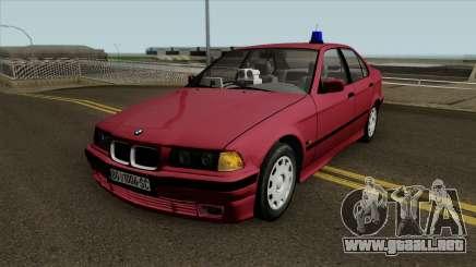 BMW 320i e36 Civil Police para GTA San Andreas