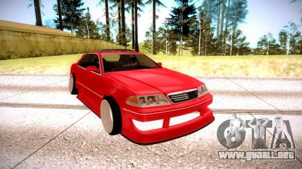 Toyota Mark 2 rojo para GTA San Andreas