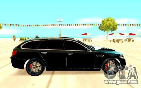 BMW M5 F11 para GTA San Andreas vista posterior izquierda