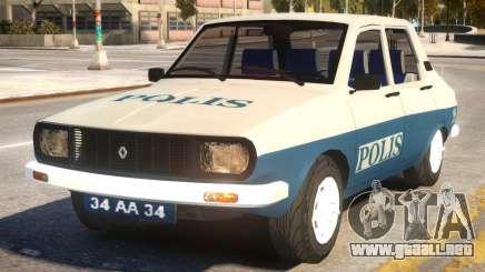 Renault 12 Police para GTA 4