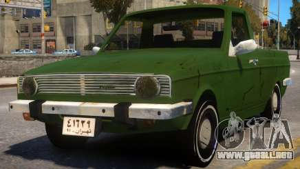 Peykan Pick Up Old para GTA 4