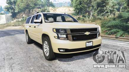 Chevrolet Suburban Unmarked Police [replace] para GTA 5