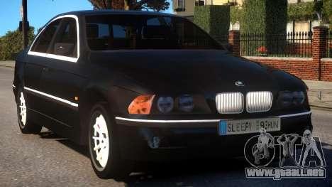 BMW 525i E39 para GTA 4 vista interior