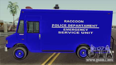 RPD Van Swat RE3 para GTA San Andreas left
