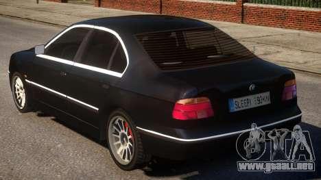 BMW 525i E39 para GTA 4 Vista posterior izquierda