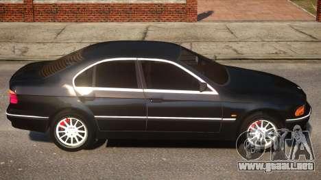 BMW 525i E39 para GTA 4 vista hacia atrás