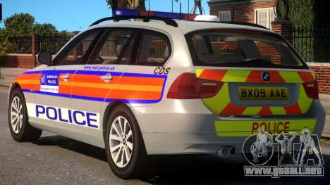 Metropolitan BMW 3 Series para GTA 4 Vista posterior izquierda