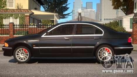 BMW 525i E39 para GTA 4 left