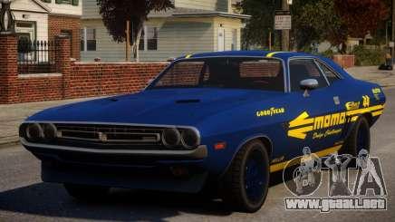 Dodge Challenger 1971 PJ10 para GTA 4