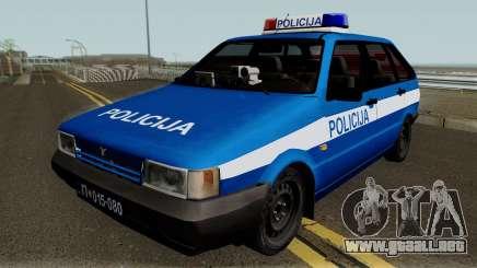 Zastava Yugo Florida 1.3 Policija para GTA San Andreas
