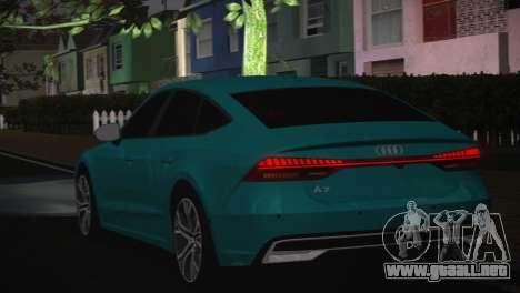 Audi A7 para visión interna GTA San Andreas