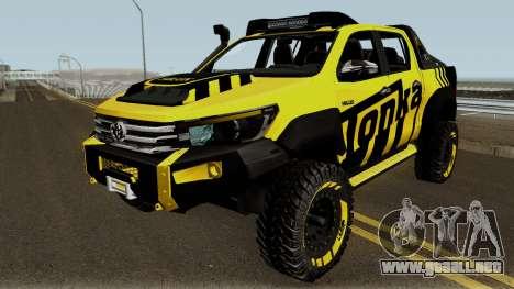 Toyota Hilux Tonka Concept 2017 para GTA San Andreas