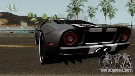 Ford GT para GTA San Andreas vista posterior izquierda