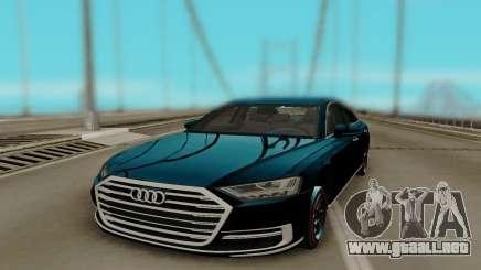 Audi A8 2018 HQ para GTA San Andreas