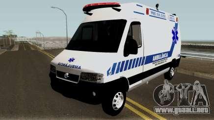 Fiat Ducato Brazilian Ambulance para GTA San Andreas