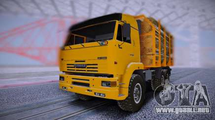 KAMAZ 6460 Camión con los registros de para GTA San Andreas