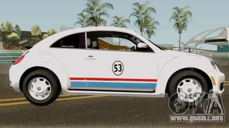Volkswagen Beetle - Herbie 2013 para GTA San Andreas vista hacia atrás