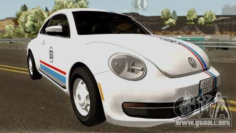 Volkswagen Beetle - Herbie 2013 para visión interna GTA San Andreas