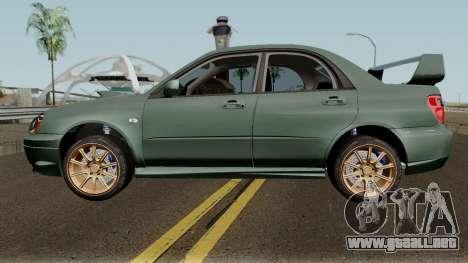 Subaru Impreza WRX STI 2004 Stock para GTA San Andreas left