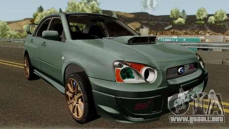 Subaru Impreza WRX STI 2004 Stock para visión interna GTA San Andreas