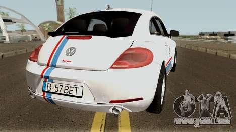 Volkswagen Beetle - Herbie 2013 para la visión correcta GTA San Andreas