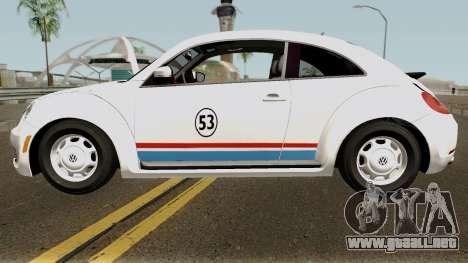 Volkswagen Beetle - Herbie 2013 para GTA San Andreas left