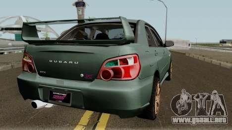 Subaru Impreza WRX STI 2004 Stock para la visión correcta GTA San Andreas