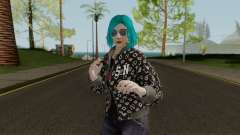 GTA Online Skin Female DLC After Hours para GTA San Andreas