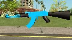AK47 Blue para GTA San Andreas