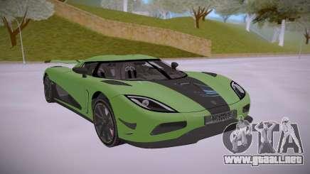 Koenigsegg Agera R Green para GTA San Andreas