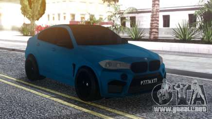 BMW X6M Blue para GTA San Andreas