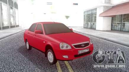 Lada Priora Red para GTA San Andreas