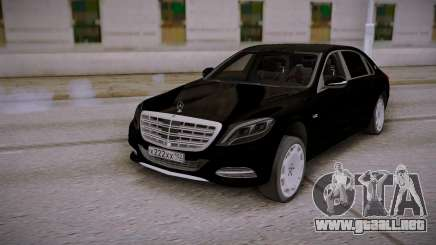 Mercedes-Benz S600 W222 Black para GTA San Andreas
