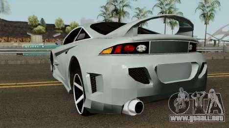 Mitsubishi Eclipse GTX para GTA San Andreas vista posterior izquierda