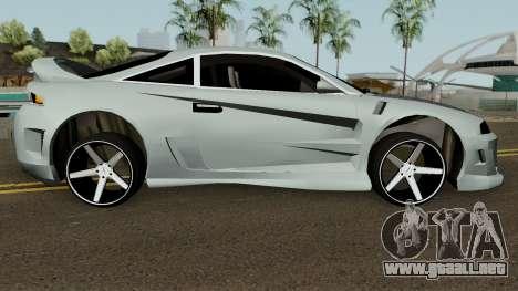 Mitsubishi Eclipse GTX para GTA San Andreas vista hacia atrás