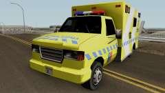 SAMU Ambulance para GTA San Andreas