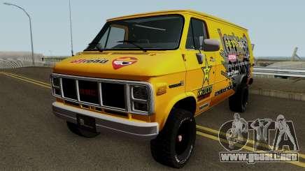 Furgoneta De Tecnicar Garaje para GTA San Andreas